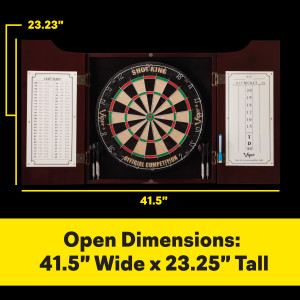 all in one darting center cabinet dry erase scoreboard out-chart board with open dimensions