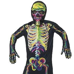 SmiffyS 24618S Disfraz De Esqueleto Segunda Piel Con Cremallera ...