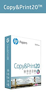 HP Papers Copy&Print20 ream of 500 sheets of 20lb everyday printing needs