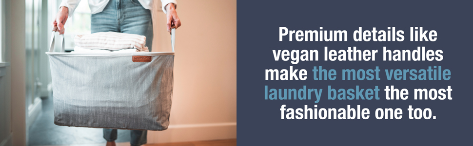 Premium features, vegan leather handles and fashionable
