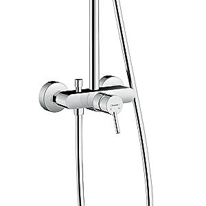 Hansgrohe 27258400 Croma Select E 180 columna de ducha, 4 tipos de ...