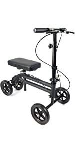 KneeRover Economy Knee Scooter in Matte Black