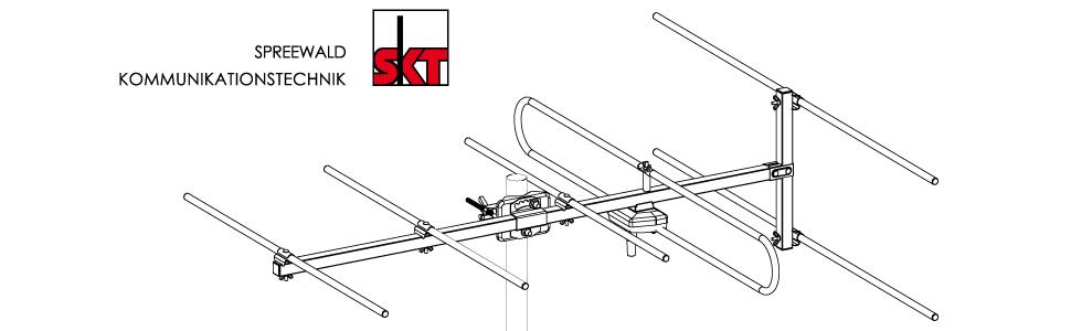 SKT TAV04 Antena Direccional 4 elementos para VHF DAB + radio