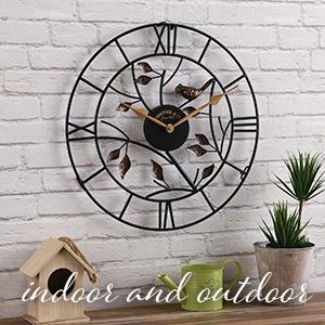 outdoor decor, outdoor clock