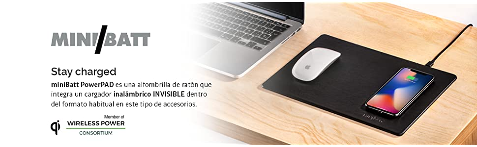 Minibatt MB-PAD Alfombrilla Con Una Carga, Negro: Amazon.es: Coche ...
