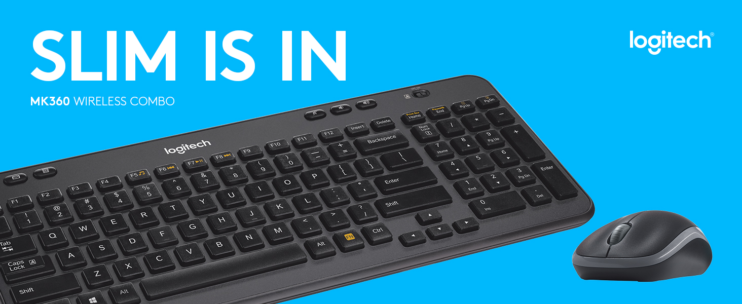 Logitech Wireless Combo MK360 Includes Keyboard And Wireless Mouse Combo