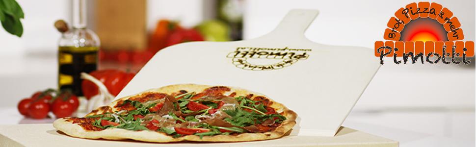 DOITOOL Holz Pizza Tablett mit Griff Steak Teller Paddle Bord f/ür Backen Pizza Brot Obst K/äse