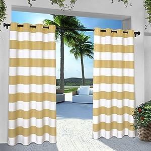 porch curtains;lanai curtains;deck curtains;drapes;pergola curtains;gazebo curtains;stripe curtains