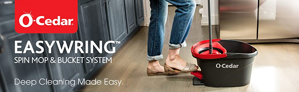 EasyWring Spin Mop. Wood floor cleaner. Deep Cleaning made easy.