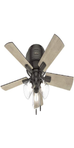 Ceiling Fan with LED Light and Pull Chain Control