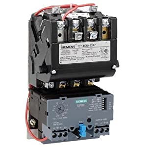 220-240//440-480 at 60Hz Coil Voltage Open Type 2 NEMA Size Ambient Compensated Bimetal Overload 3 Pole 3 Phase Siemens 14FP32WC81 Heavy Duty Motor Starter Manual//Auto Reset NEMA 4//4X Stainless Watertight Enclosure 45A Contactor Amp Rating