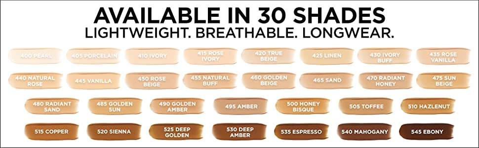 loreal foundation, fresh wear foundation, long wear makeup, waterproof, lightweight foundation, face