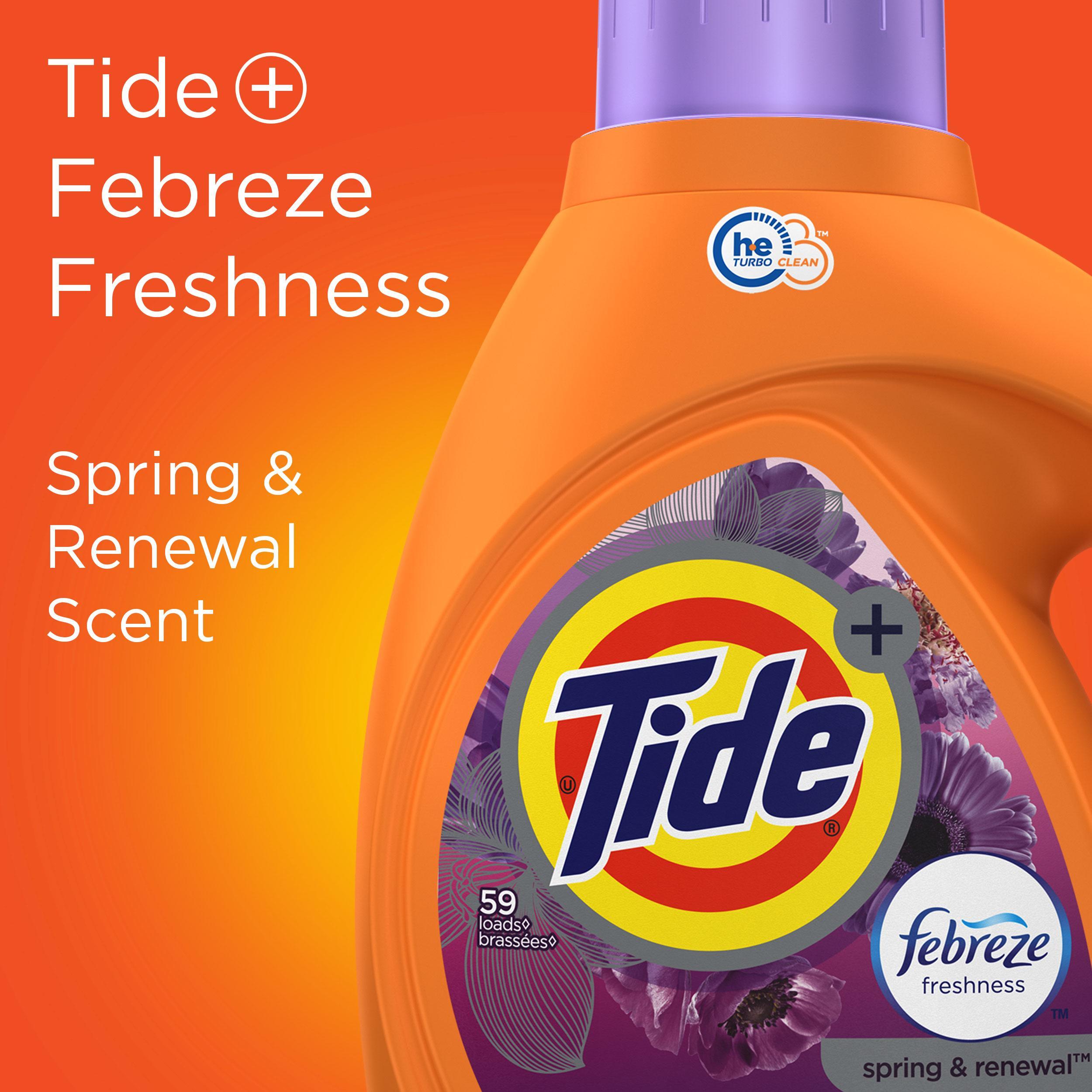 Amazon Com Tide Plus Febreze Freshness Spring Amp Renewal