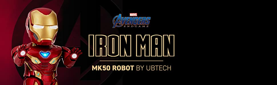 iron man, robot, marvel, avengers, end game, tony stark, ubtech, marvel universe, augmented reality