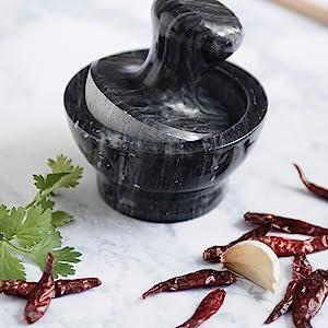 black marble mortar and pestle; Fox Run mortar and pestle; black marble; marble mortar amp; pestle
