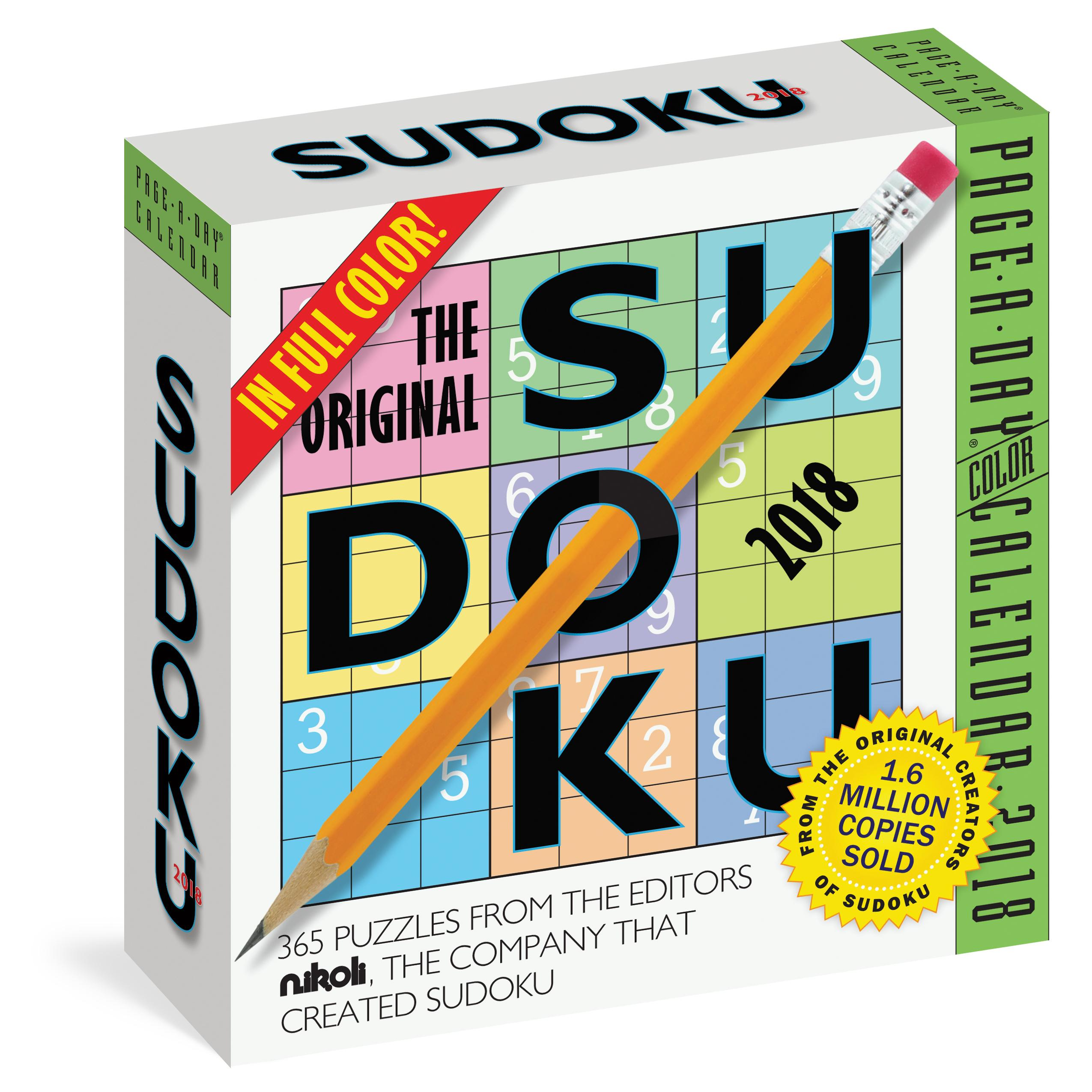 5dfa33662ed2af The Original Sudoku Page-A-Day Calendar 2018  Editors at Nikoli ...