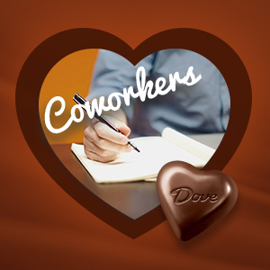 Share DOVE Truffles with your coworkers for Valentine's Day.