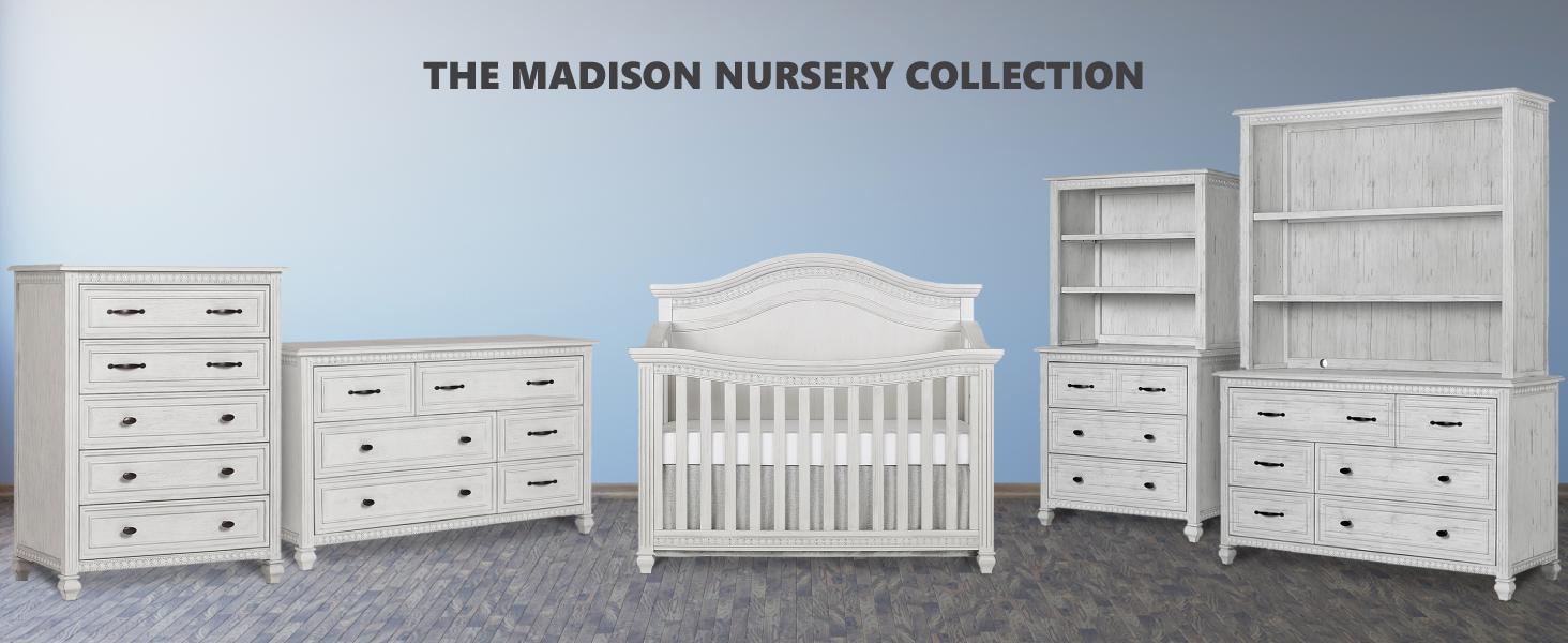 madison, nursery collection, nursery furniture, baby furniture, baby products, nursery products
