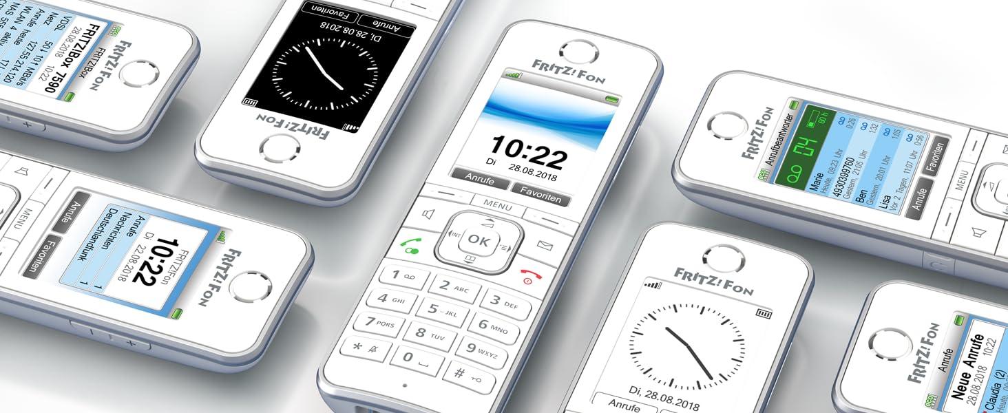AVM FRITZ!Fon C6 DECT-Komforttelefon weiß: Amazon.de: Elektronik