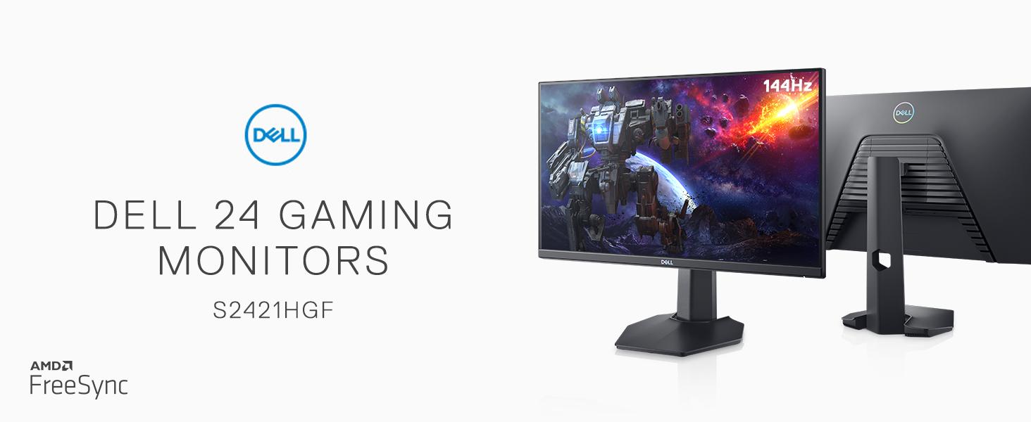 Amazon.com: Dell S2421HGF 24inch FHD TN, Anti-Glare Gaming Monitor - 1ms  Response time, 1080p 144Hz, LED edgelight System, AMD FreeSync Premium,  VESA, Gray: Computers & Accessories