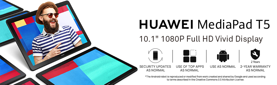 huawei mediapad t5 android tablet