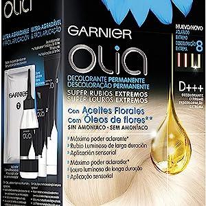 Garnier Olia, Decolorante Permanente sin Amoniaco con Aceites Florales de Origen Natural, Decolorante D+++, Decolorante Pelo Profesional, Rubio ...