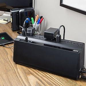 APC UPS Battery Backup & Surge Protector with USB Charger, 850VA, Back-UPS  (BE850M2)