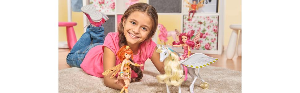 Simba Mia an me Ankleidepuppe Mia Puppe Spielzeugpuppe Figur Elfe Flügel Armreif