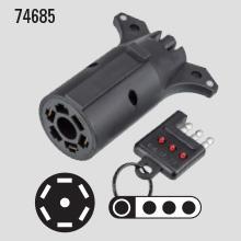 7-way to 4-flat adapter