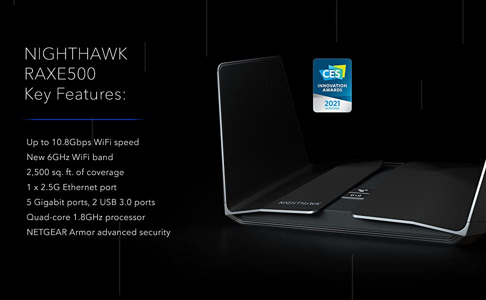 Nighthawk RAXE500 Key Features