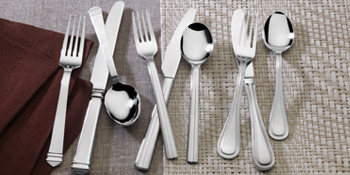 mikasa, flatware, silverware, dinner fork, dinner knife, dinnerware, dinner set