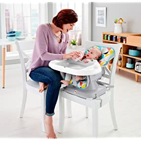 Amazon.com: Fisher-Price SpaceSaver - Silla alta, Multicolor ...