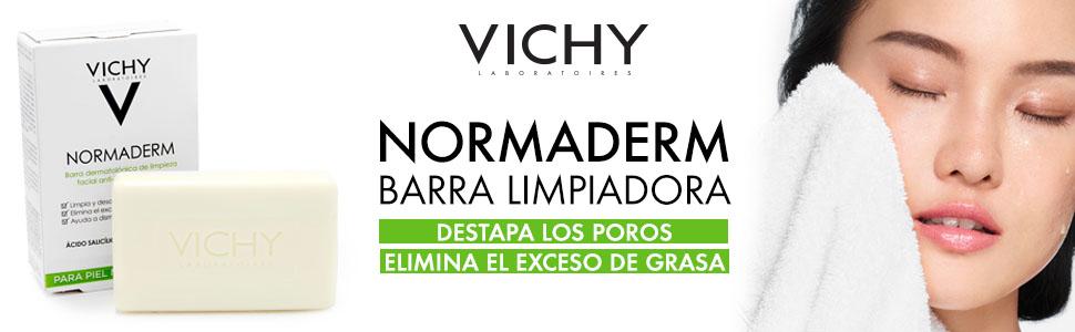 Vichy Barra limpiadora, piel grasa, poros, exceso grasa, limpieza, acne