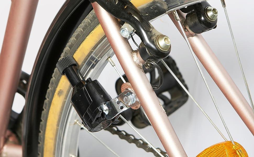 Ranuw Nouveau G/én/érateur d/éclairage pour v/élo 6/V 3/W Dynamo motoris/é friction T/ête /éclairage arri/ère kit