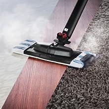 Für alle Bodenbeläge geeignet, auch für Teppiche