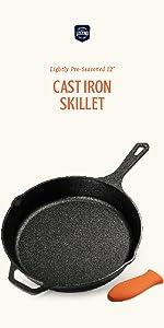 Amazon.com: Legend Cast Iron Skillet 12 Inch | EXTRA LONG ...