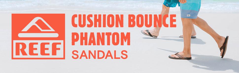 Cushion Bounce Phantom, Sandal, reef, beach, cushion, comfort, support