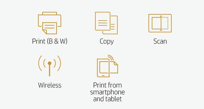 print B&W scan copy smartphone tablet 802.11