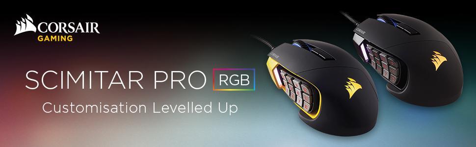 b843f0c1264 Description for Corsair Scimitar Pro RGB Multi-Colour Backlit Performance  16000 DPI Optical Gaming Mouse - Black | CH-9304111-EU