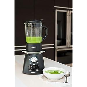 Cuisinart Black SSB1U Electric Soup Maker and Blender, 1.75 L, 1000 W, Plastic, 800 W