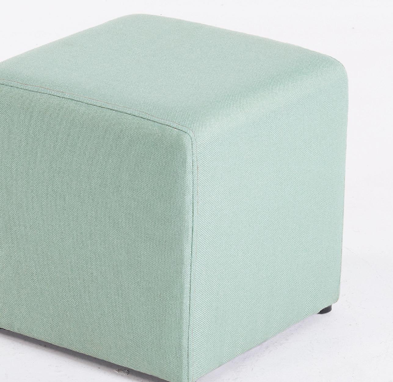 Amazon Com Belleze Modern Cube Ottoman Fabric Upholstered