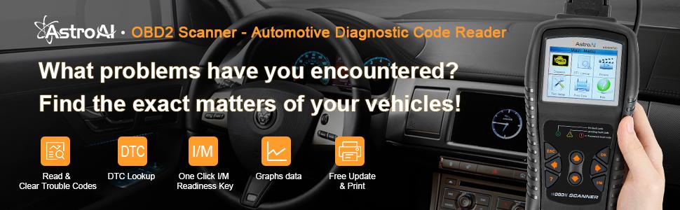AstroAI OBD2 Scanner, OS720 OBD II Auto Check Engine Code