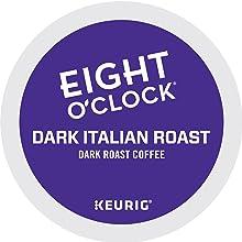 eight ou0027clock dark italian roast coffee kcup pod