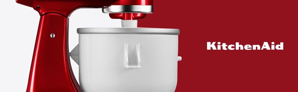weiß//Silber//schwarz Aluminium KitchenAid 5KICAOWH KICA Zubehör Kunststoff