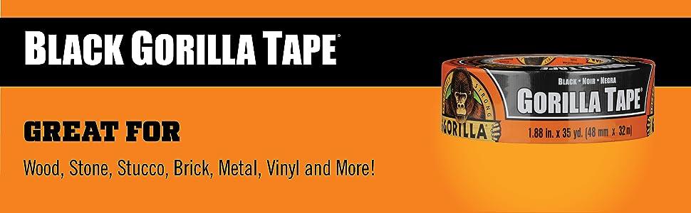 Gorilla Tape Black Duct Tape 35yd