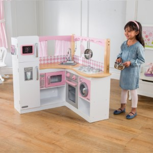 2e80f151fb44 KidKraft 53185 Grand Gourmet Corner Wooden Pretend Play Toy Kitchen ...