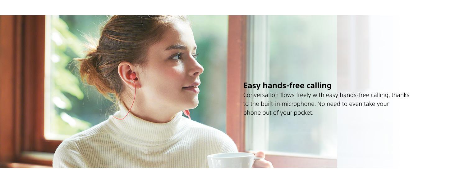 Sony WI-C300 Wireless NFC Bluetooth In-Ear Earbuds Headphones w//Microphone
