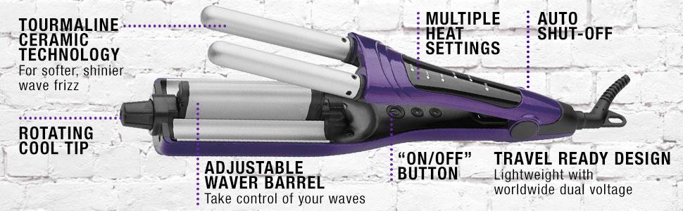 hairwaver;  hair waver; hairwavers; hair wavers; waves; waver; beachy waves; bed head; BH336