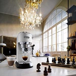 EC685 White coffee machines Australia DeLonghi