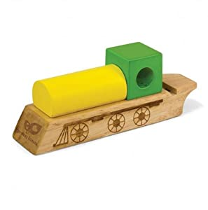 Eco Friendly Green Tones Race Car Whistle-Dual Play Item-Music